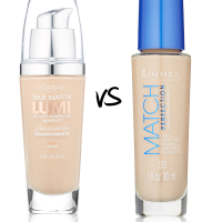 Beauty ShowDown: Loreal True Match Lumi vs Rimmel Match Perfection Foundation