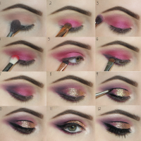 Valentines Day Glitter Glam Tutorial